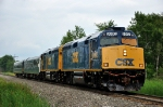 CSX OCS departing Massena Yard, heading south, entering the St. Lawrence Subdivision