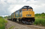 CSX OCS  enters Massena Yard at the end of the St. Lawrence Subdivision
