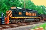 WE 3048 SD40-2 on westbound empty gravel train