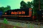 WE 3048 SD40-2 on empty gravel train