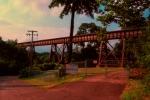 Wheeling & Lake Erie, former AC&Y bridge just west of Howard Street in Akron