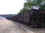 Wheeling and Lake Erie stone cars wait at Osborne Stone to be unloaded