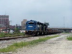 Ballast train stands ready in once busy Alliance Yard