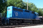 WE 6382 in EMD paint, second unit on westbound stone train