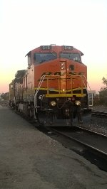 BNSF 516 (B40-8W) waiting to get to work.