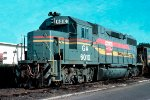 Georgia Railroad GP38-2 #6010, sitting on the Seaboard Coast Line/Atlanta & West Point connection track
