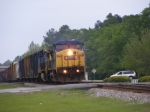 CSXT 9034 Crossing Main Street