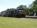 "CSXT 5262 with a ""Hot"" train in tow, Northbound"