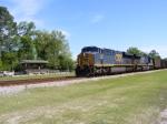 CSXT 938 passes the Platform
