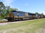 CSXT 938 along with CSXT 841 pull an empty Florida Coal Train Northbound