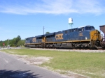 CSXT 938 & 841 under the Folkston Water Tower