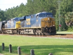 CSXT 5487 leads a Northbounder