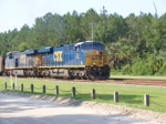 CSXT 830 leads a Northbound Empty Florida Coal Train