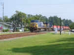 CSXT 7782 Leads a Southbound Intermodal Across Main Street