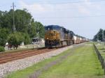 """CSXT 5313 leads a Northbound """"Hot"""" Intermodal"""