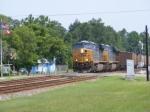 Southbound Florida Coal Train Crossing Main Street