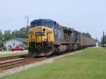 CSXT 253 Leads a Southbound Florida Coal Train through Town