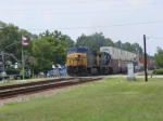 CSXT 148 leads a Southbound Intermodal through town