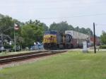 CSXT 148 leads a Southbound Intermodal through town