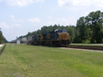 "CSXT 557 leads a ""Hot"" Intermodal Northbound Through Town"