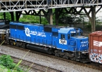 Rare Conrail SD50 passing heading for Inman