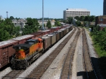 BNSF 5665 shoving north past Jones Ave.