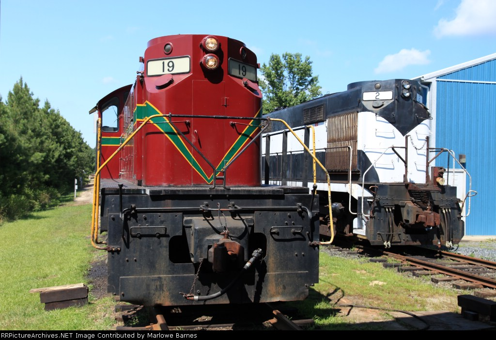 Part of the DCLR's stable of Alco's parked behind Hyde Power's shops