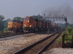 UP 6666 East and BNSF 7433 East