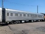 """080615017 BNSF 66 with BNSF/MILW 261 """"Employee Appreciation"""" train at Harrison Street"""