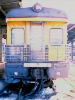 """1005-10a MILW business car [1st] """"Milwaukee"""" in Mpls GN Depot"""