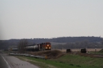 Ethanol Train in the Rain on the Sioux City Subdivision
