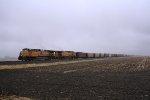 Union Pacific Coal Train in the Cold November Rain