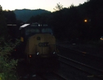 CSX 4551 on the house track at dawn