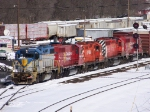 5 Canadian Pacific Locomtives at the Yard