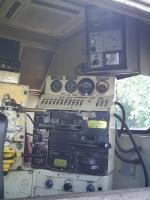 Cabine da G12 562 que puxa o passageiro na estacao
