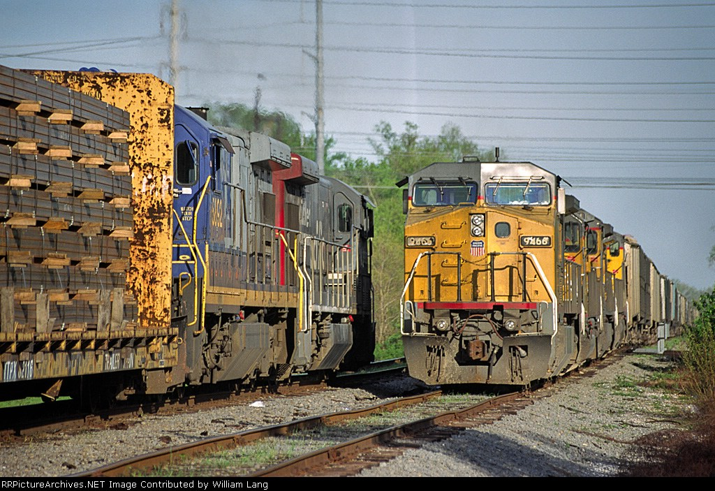 UP trains at east end of Avondale Yard