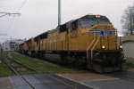 UP SD70M power in the French Quarter