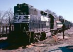 Norfolk Southern GP38-2 #5132, tied down on the House Track,
