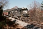 "Norfolk Southern SD60's #6559 & 6621 lead an eastbound Birmingham (AL) to Columbus (GA) freight on the ""P"" Line"