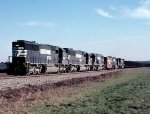 Norfolk Southern SD60's #6642, 6626, & 6585, radio control car #905947, SD60 #6624 & C39-8 #8588 lead an empty coal train headed for another load