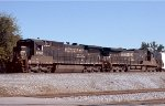 Norfolk Southern C40-8 #8722 and C40-9 #8875 leave Norris Yard westbound