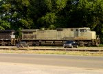 Six month old Norfolk Southern C40-9W #9802, in primer paint, headed southbound towards Mobile (AL)