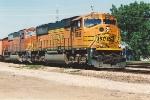 Loaded coal train heads east