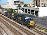 CSX 8518 leads Northbound train Q679