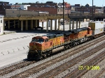 BNSF 4945 leads CSX train Q185