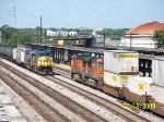 Train meet around the Amtrak Station Q680 meets Q185