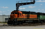 BNSF 7950 leads BN to NS transfer