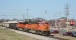 BNSF 9993 pulls in to Al's supermarket