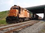 Georgia Florida Railnet train parked under I-75