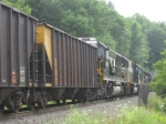 NS 6313 and three others push on a long, slow coal train